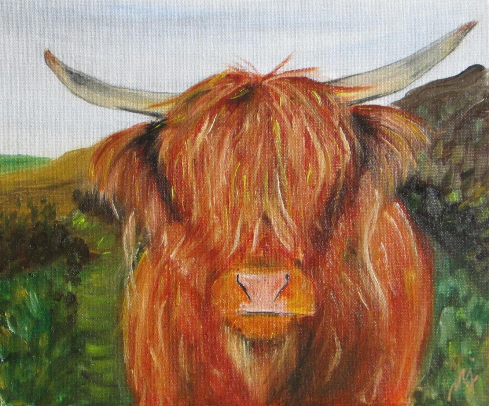 oil paintings by maria j jimenez highland cow