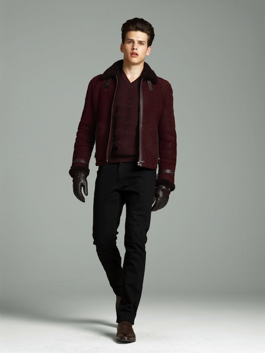 Model Simon Van Meervenne for Versace F/W 2012-2013