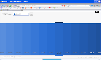 Веб-версия Chroma, открытая в браузере Firefox.