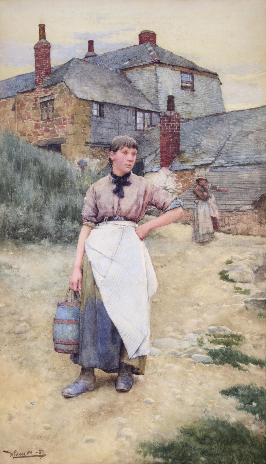Walter Langley A cornish village maiden