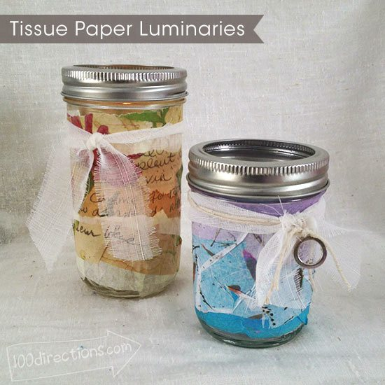 http://www.100directions.com/mason-jar-and-tissue-paper-luminaries/