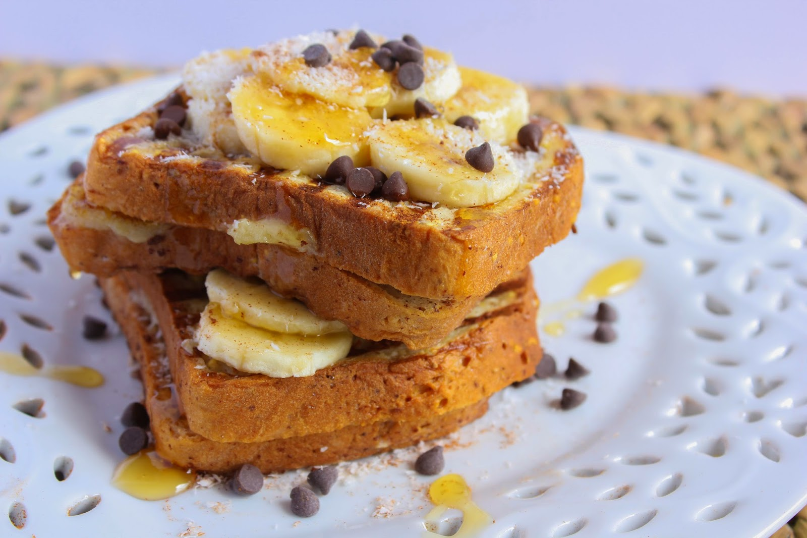 The Healthy Vita: Banana and Chocolate Chip Stuffed French Toast for ...