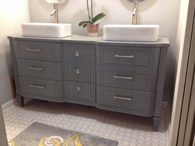 Julie Peterson Simple Redesign Pretty Dresser Turned Gorgeous Master Bath Vanity