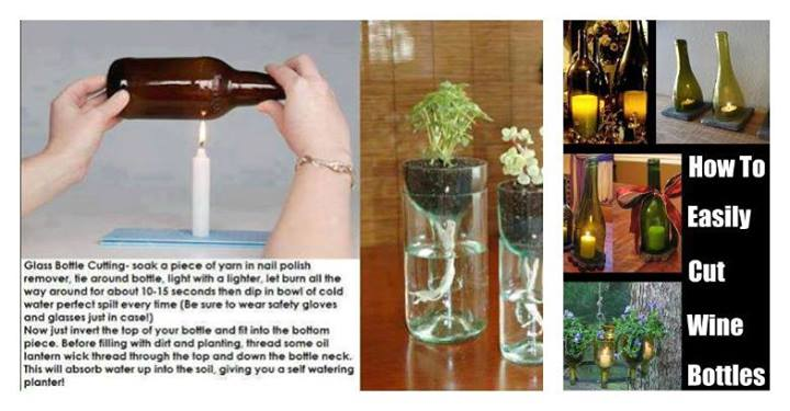 I can 39 t pin it easily cut glass bottles for Simple way to cut glass bottles