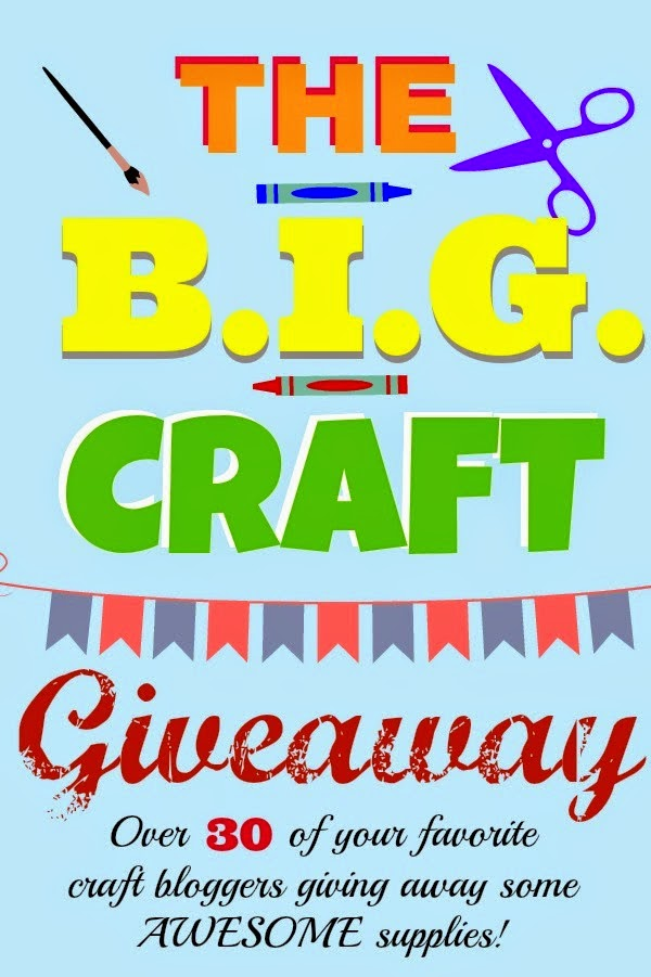 The BIG Craft Giveaway, 30+ Blogs giving away amazing craft supplies. Ends 7/17, Black and White Obsession: Chalk Paint, stamps, beads, scrapbooking, embossing holders + #silhouette Download card | www.blackandwhiteobsession.com #giveaway #bigcraftgiveaway