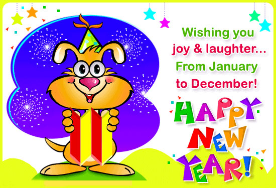 Select From Any Of These Listed Thumbnails Of Animated New Year Cards To Wish  Happy New Year To Your Beloved Ones With These Animated Cartoons, ...