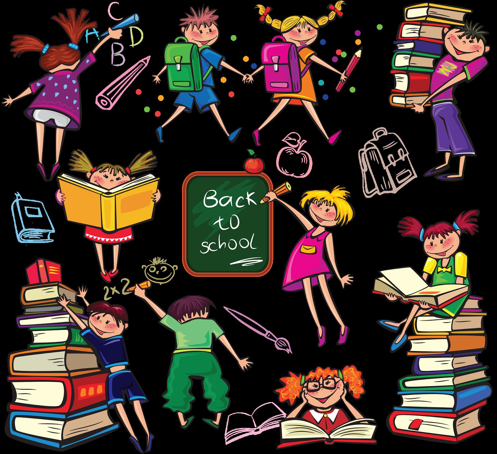 мультяшные картинки учеников школы