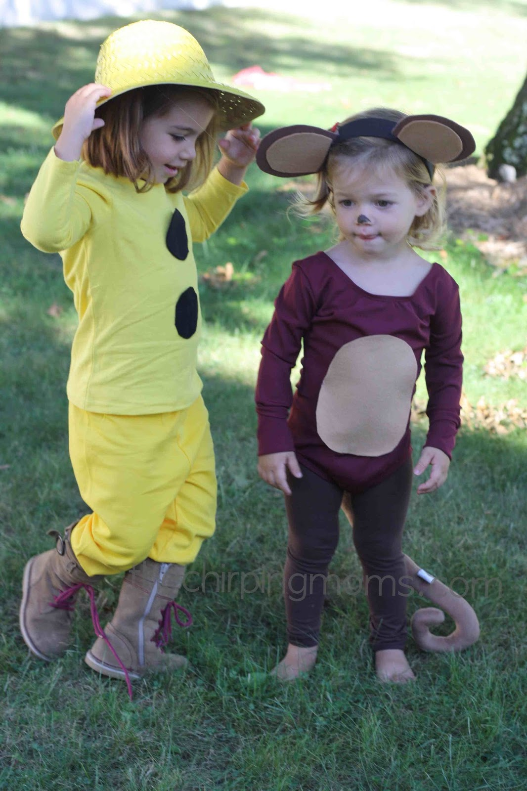 diy halloween costumes: curious george & the man with the yellow hat
