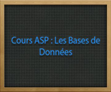 Cours ASP : Les Bases de Données