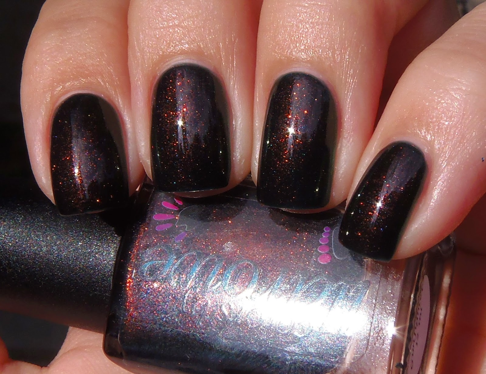 Sparkly Vernis: Colors by Llarowe Gunfighter is a shimmery dark green