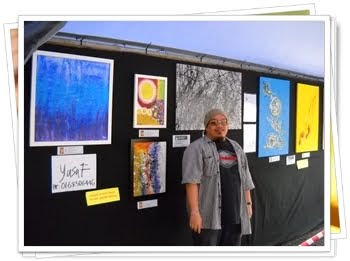 Pameran Lukisan APi di Tebingan Kuching