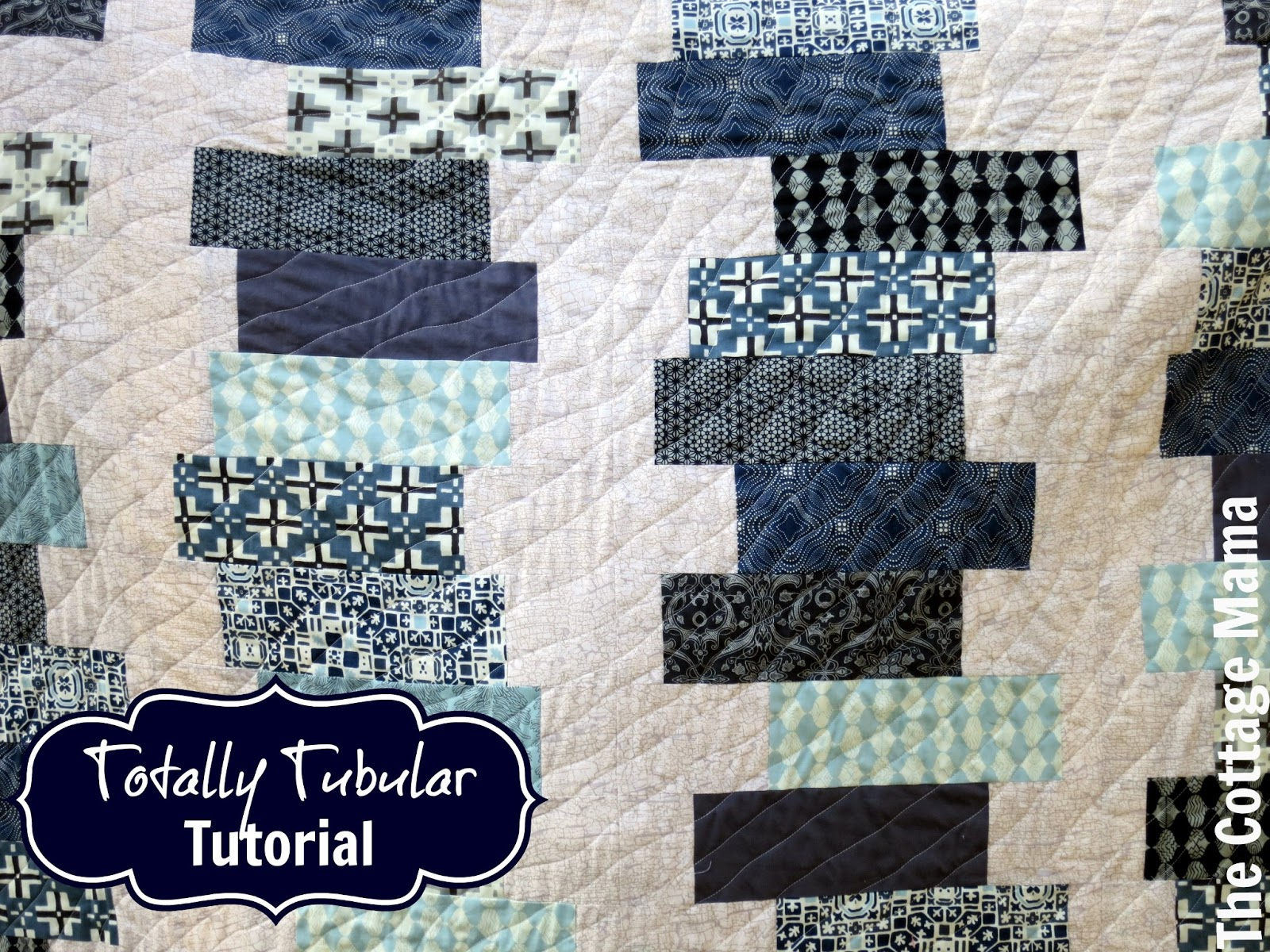 Totally Tubular Stacked Block Quilt Tula Pink Book Giveaway The