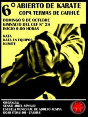 6º Abierto de Karate Copa Termas de Carhue 09/10/2016