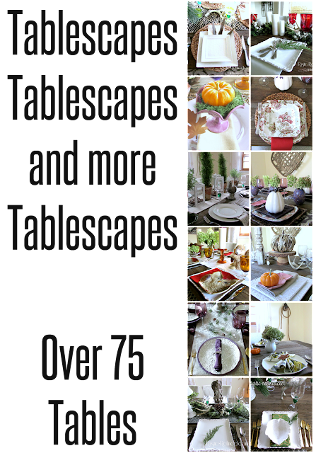 Tablescapes for every season, all on one page! Visit http://www.rustic-refined.com/p/tablescape-01.html for more details.