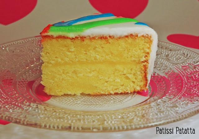 cake design, glaçace royal, gâteau multicolor, gâteau citron, lemon-curd, gâteau abstrait