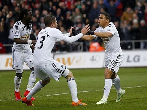 Results : Swansea 2-0 Stoke City