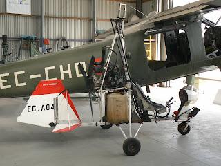 Autogir de la casa Sallen Aviación, S. A. propietat de l'FPAC.