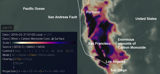 Is the San Andreas Fault about to shift? Unprecedented amounts of Carbon Monoxide released...