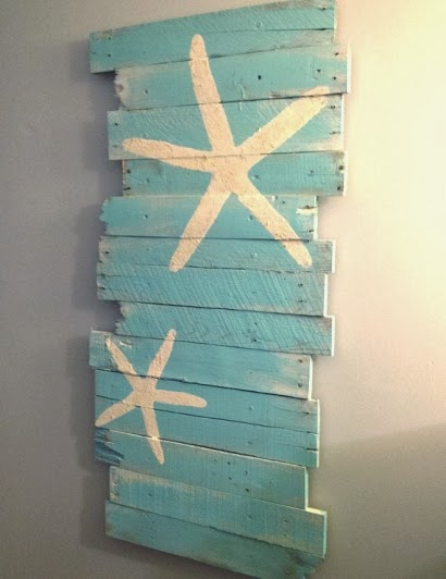 starfish wood wall art