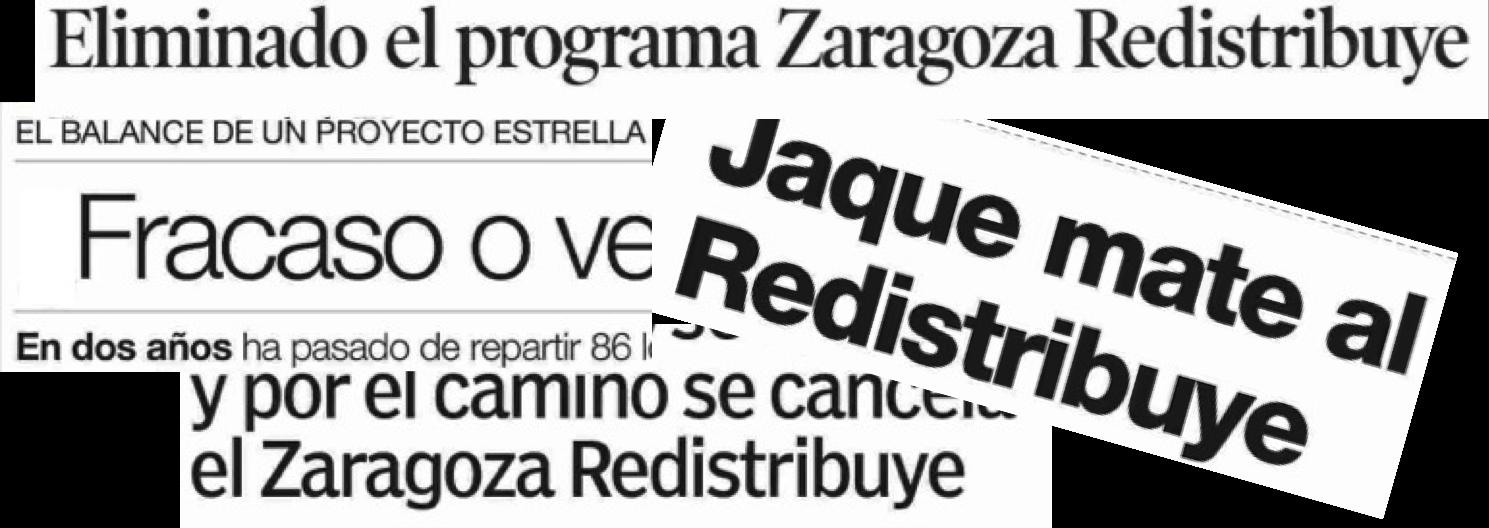 Zaragoza Redistribuye, reparto de alimentos