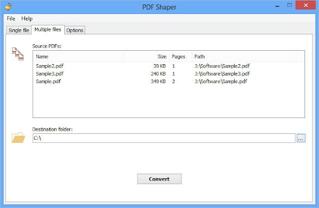 برنامج مجانى لتحويل ملفات PDF الى وورد 1.4 PDF Shaper
