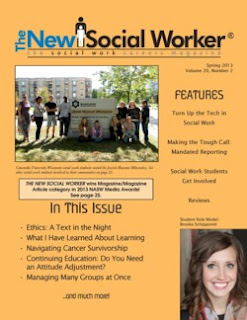 Spring 2013 issue THE NEW SOCIAL WORKER