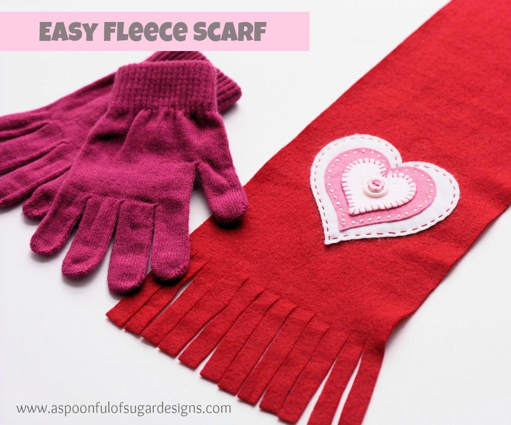Детский шарф из флиса своими руками 3