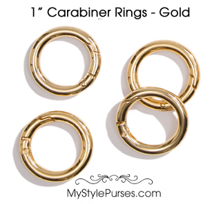 "1"" Bright Gold Carabiner Rings"
