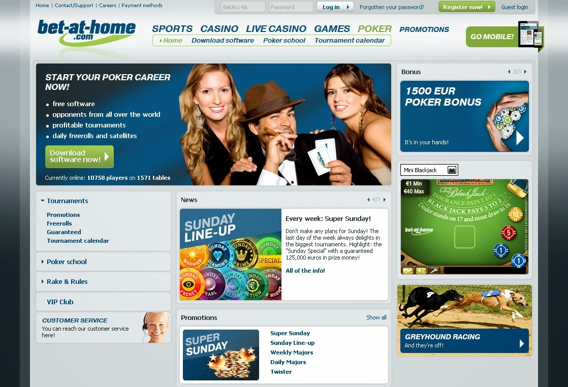 Bet-at-home Poker Screen