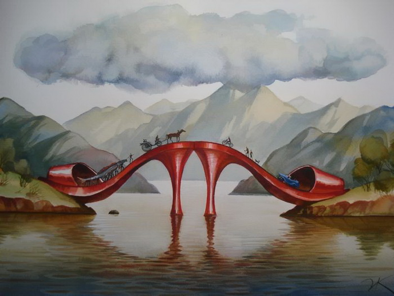 Vladimir Kush 1965 | Russian painter | The Surreal Landscapes