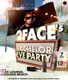2face idibia bachelor eve party