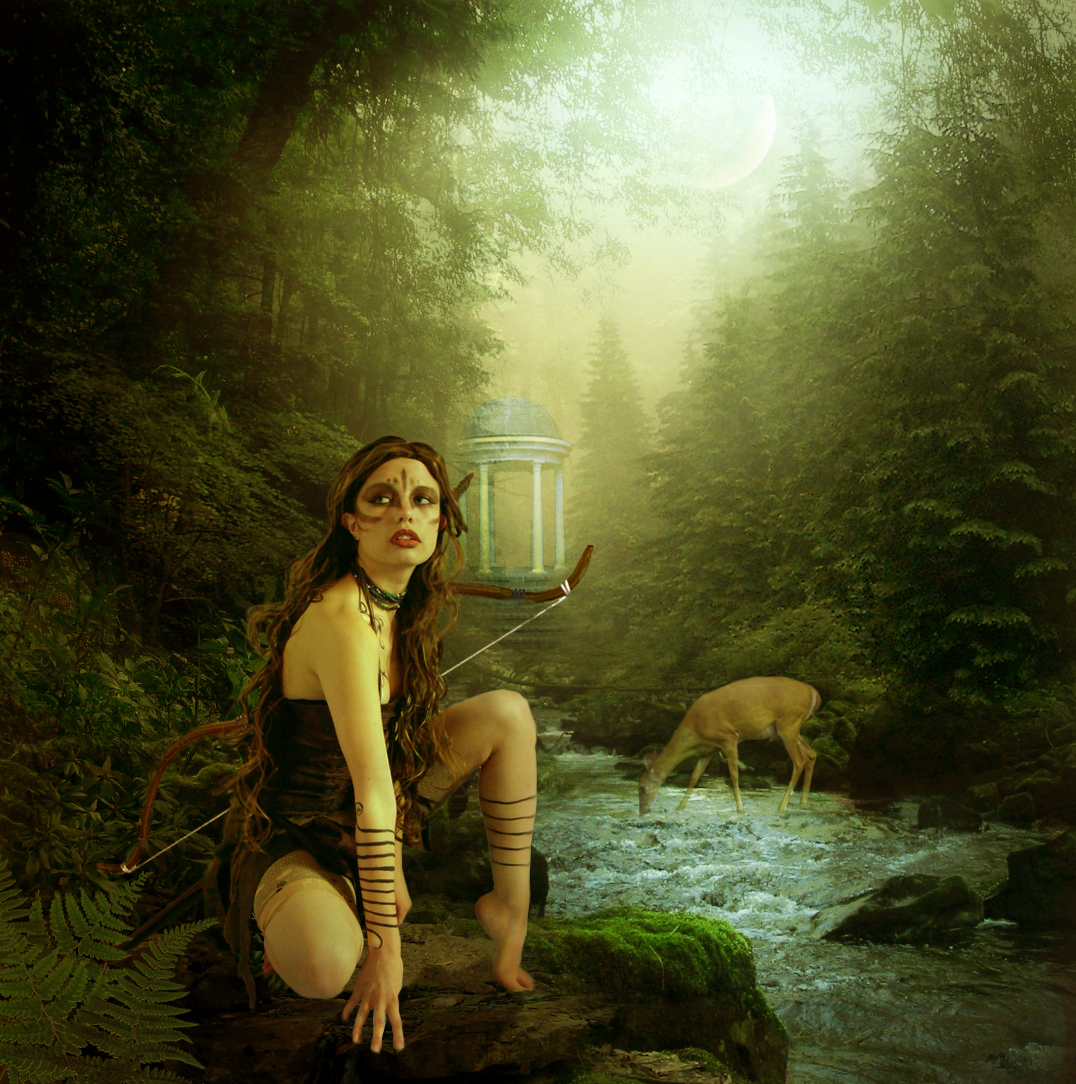Artemis greek goddess my work of art Goddess of nature greek