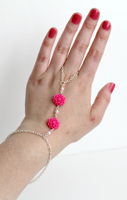 diy boho hand chain