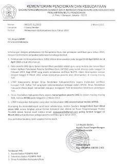 Jadwal Pelaksanaan Uji Kompetensi Awal (UKA) Sertifikasi 2013