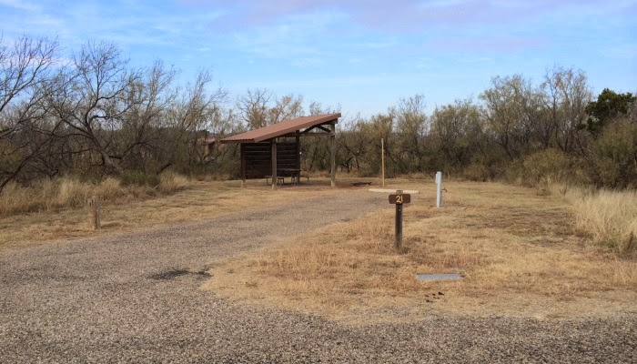 rv camping i caprock canyon state park, texas