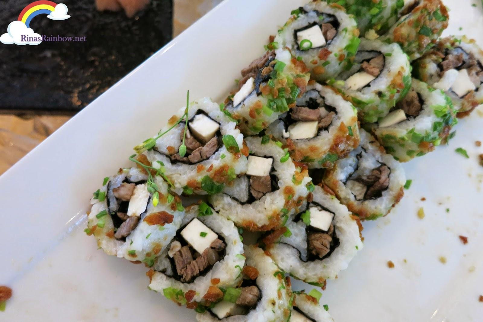 kesong puti bistek sushi
