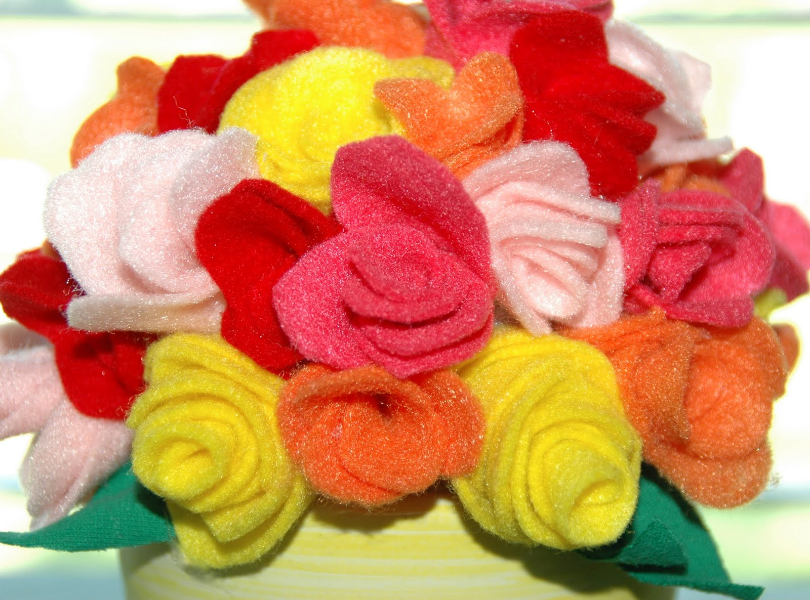 Lipstick and Laundry Felt Flower Bouquet