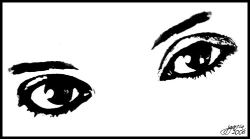 Imagenes de ojos animados para colorear - Imagui