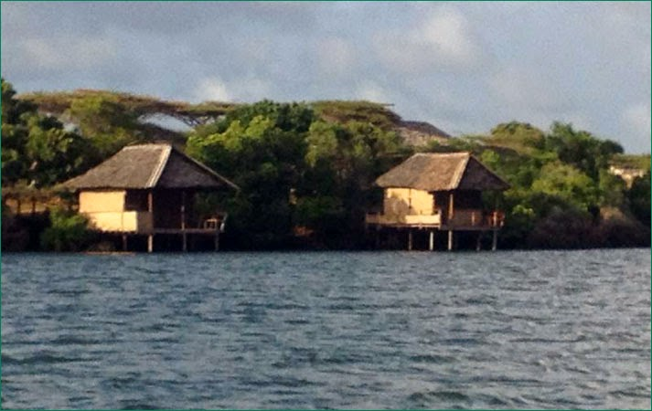 Two stilt cottages...