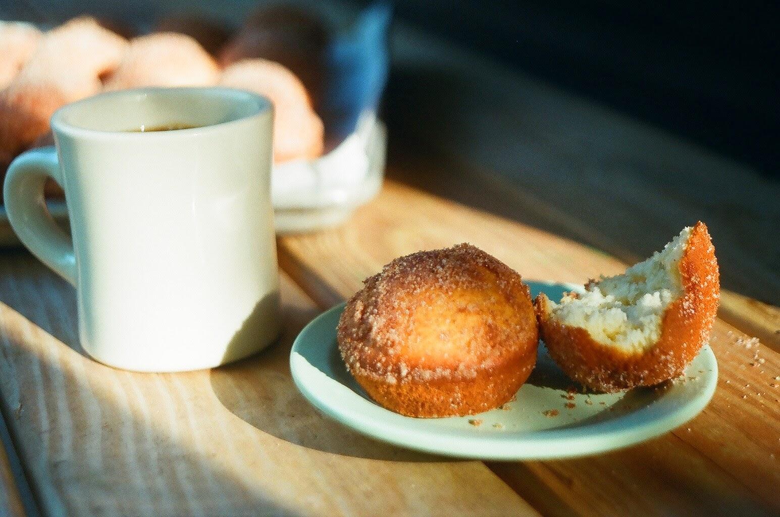 Cardamom Doughnut Muffins and Coffee