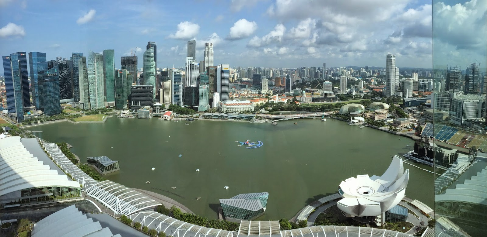 Singapore from the 53rd floor of Marina Bay Sands