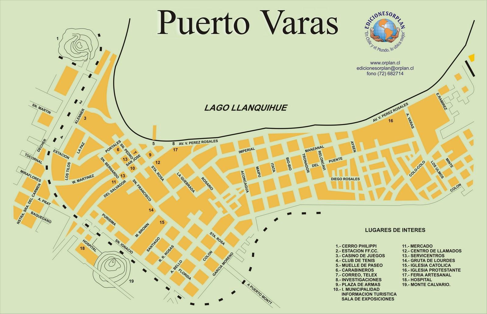 Puerto Varas Chile  city photos gallery : mapa de puerto varas chile como chegar em puerto varas