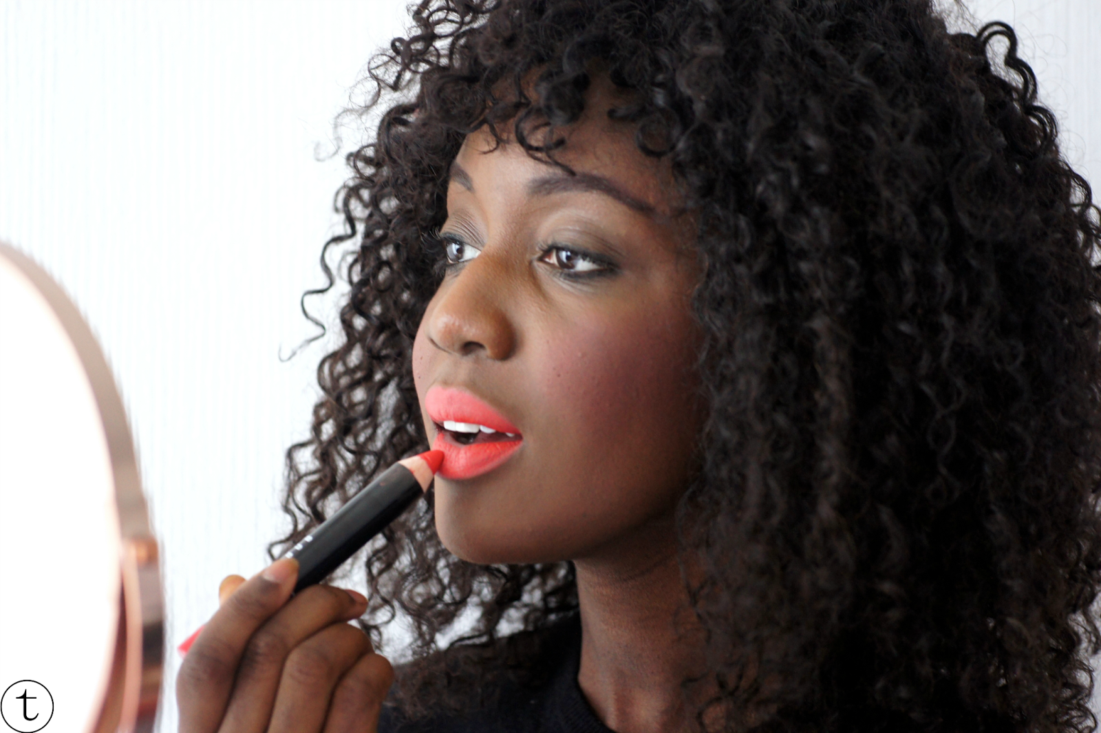 applying the bobbi brown art stick sunset orange cosmetics review