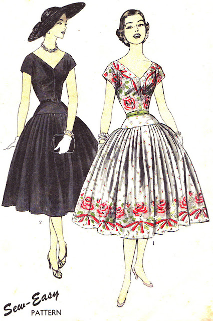 1950s party dress sewing pattern Just Peachy, Darling