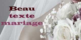 Beau texte mariage
