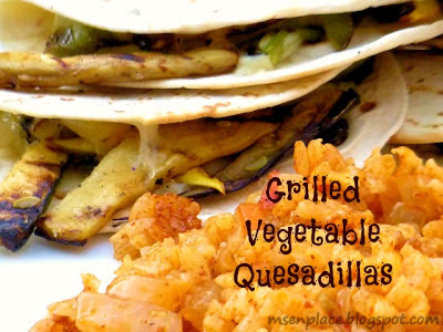 Grilled Vegetable Quesadillas | Ms. enPlace