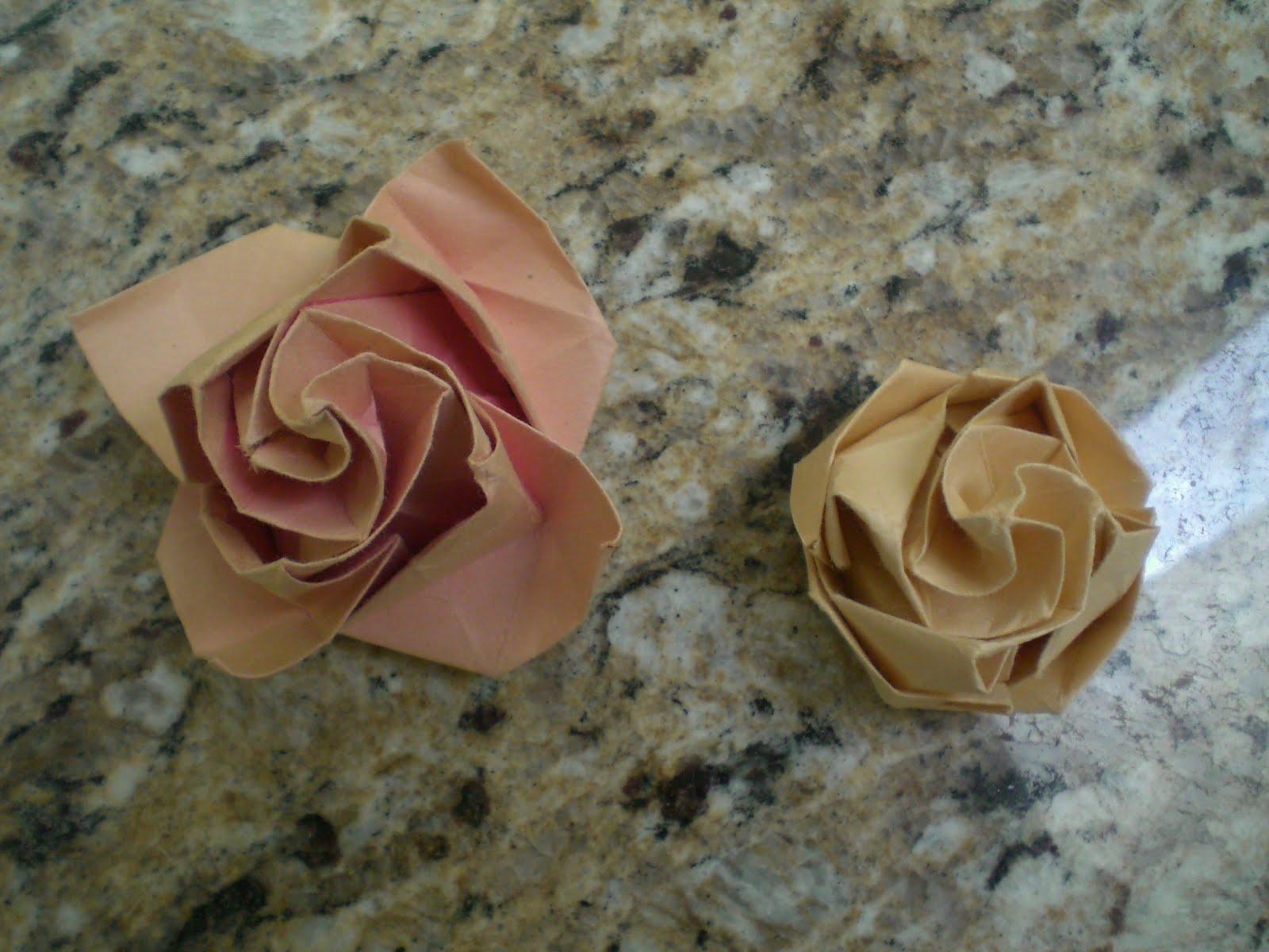 The Stingy Stitcher Origami Roses