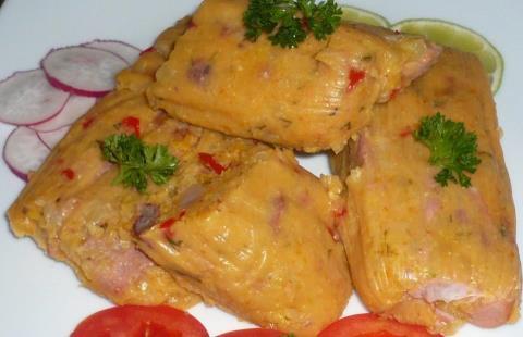 Sabrosa receta cubana: Tamal en hojas con dos guarniciones