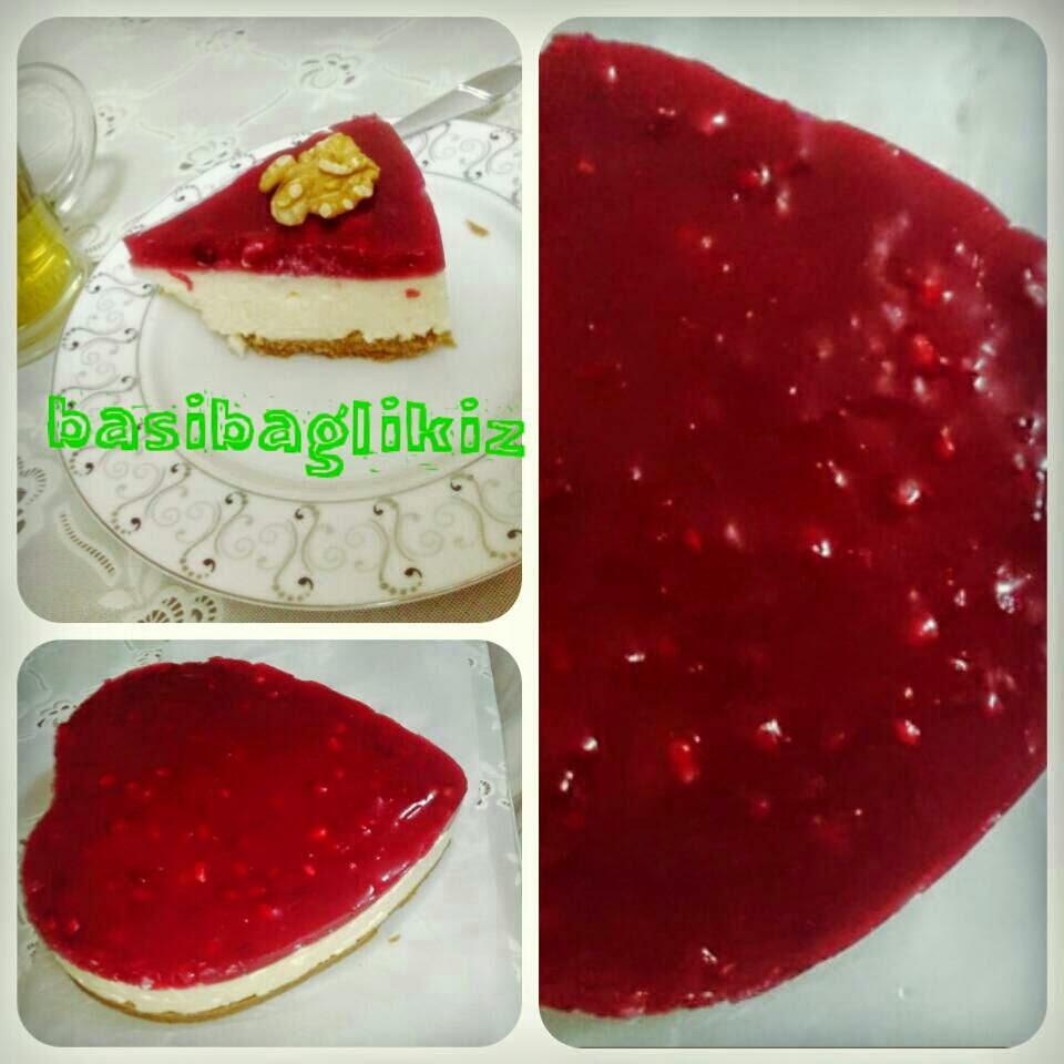 narlı cheesecake,narlı pasta tarifleri,cheesecake,cheesecake nasıl yapılır,narla hangi pastalar yapılır,nar,kolay cheesecake tarifleri,yemek tarifleri,