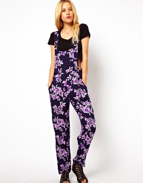 asos; edie's closet, floral overalls